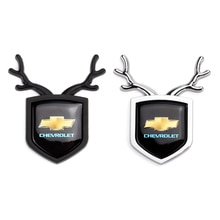 Car Rear Trunk Emblem ABS Deer Shape Sticker for Chevrolet Lacetti Aveo Cobalt Cruze Malibu Trax Camaro Sail Captiva Spark Epica