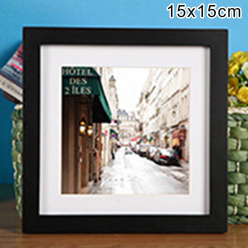 12.5*12.5cm cadre Photo affiche cadre noir vert arc-en-ciel couleur carré