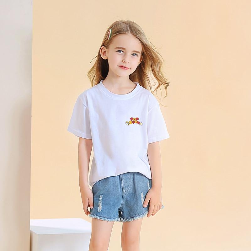 Bangtan Boys camiseta de verano de manga corta de algodón para niños y niñas Casual Kpop coreano Kawaii POP CORN Print camiseta