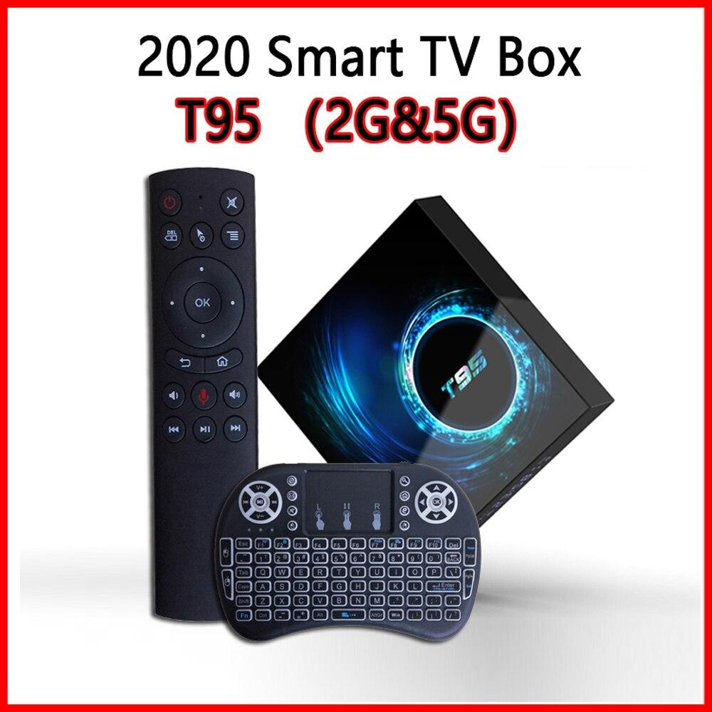 2020 beste T95 max Smart Tv Box Android 10 6k 2,4G & 5,8G Wifi Bluetooth 5,0 Quad core Set-Top-Box Media Player pk MXQ pro 5G X96