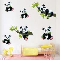 Autocollants Muraux Panda en bambou  dessin anime  pour chambre a coucher  decoration de la maison  salon  Stickers Muraux decoratifs pour chambre a coucher