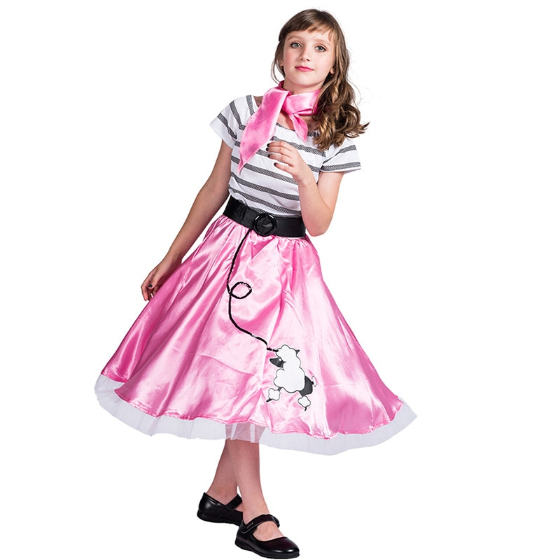 adult kids funny fast food fancy hat hamburger cheeseburger shaped carnival halloween christmas party dress up costume SATCOPY Retro Pink Lovely Poodle Skirt Dress Costume Girls Halloween Christmas Cosplay Carnival Party Fancy Dress