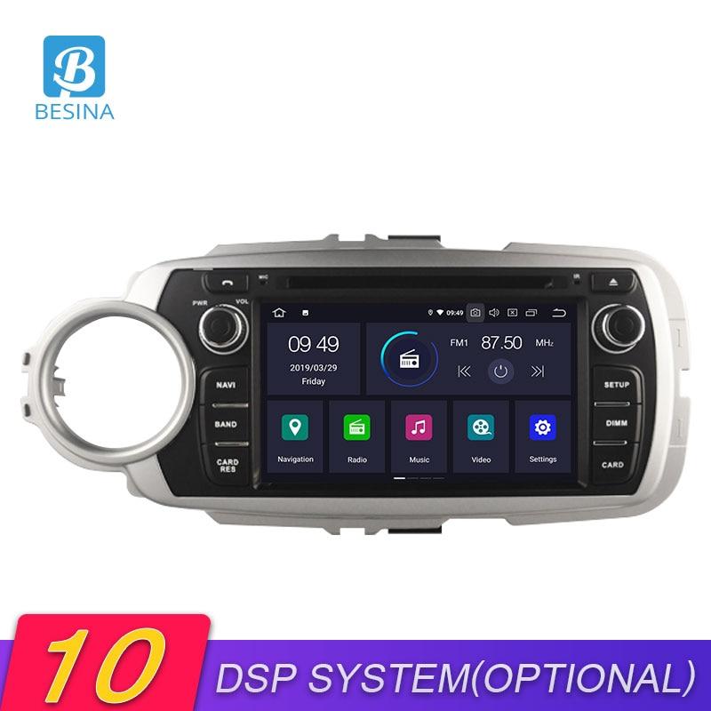 Besina android 10 reprodutor multimídia do carro para toyota yaris 2012 2013 2014 2015 2016 2017 dvd vd gps navegação estéreo rádio áudio