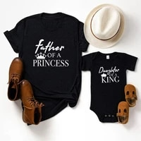 little girl clothes father princess daughter king matching father baby gift 2021 girl gift dad and baby matching shirt