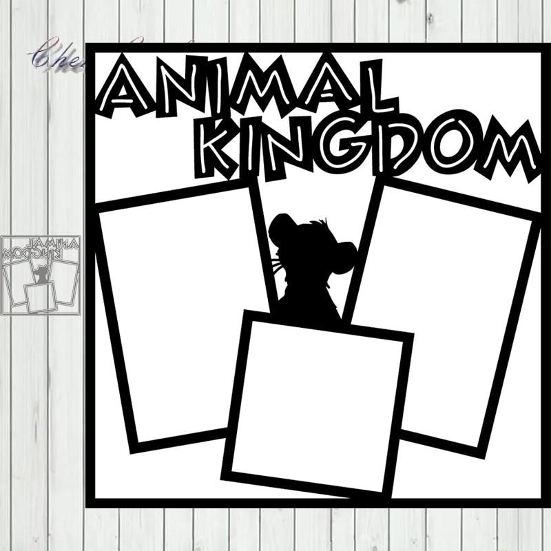 Metal Cutting Dies ANIMAL KINGDOM Scrapbook Paper Craft Decoration Dies Stencil For Album Card Making Knife Punch NEW DIES
