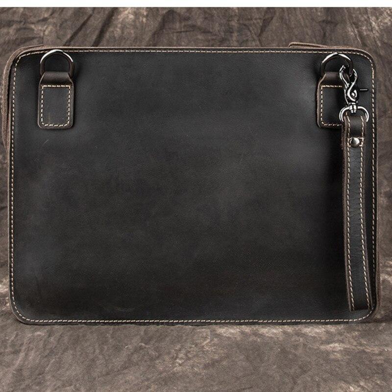 GAGACIA الرجال براثن حقيبة أعلى جودة مجنون الحصان جلد البقر الرجال Vintage مخلب حقيبة اليد جلد طبيعي حقيبة لباد برو A4