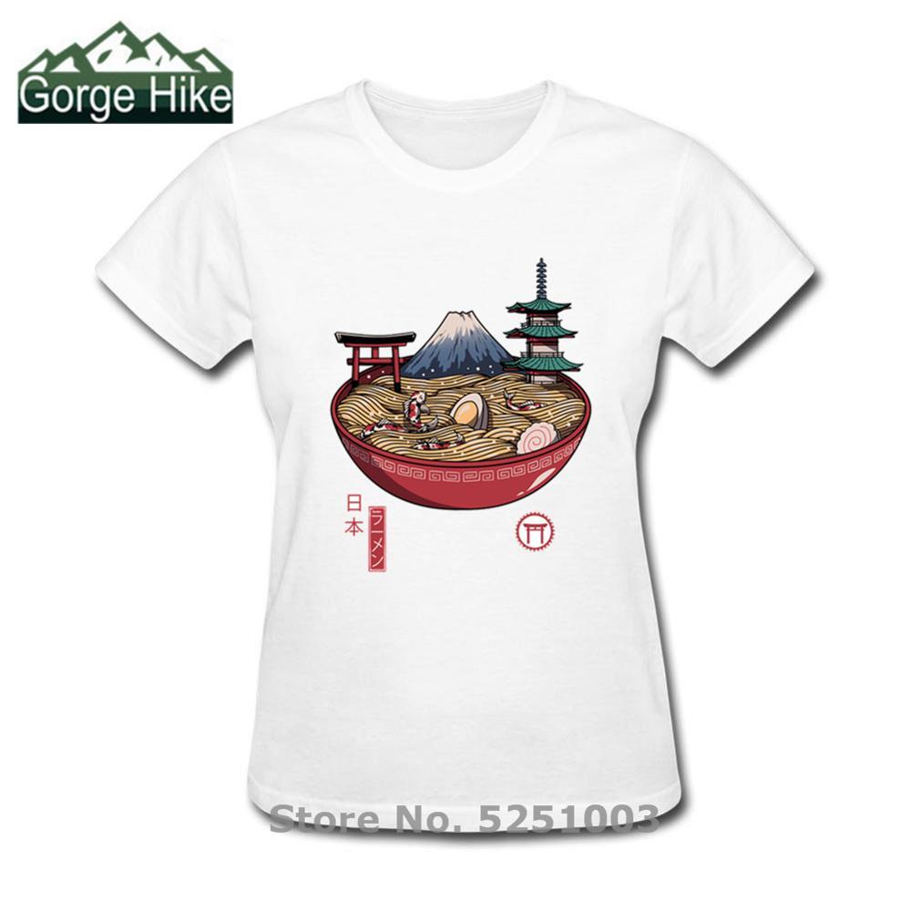 2020 Streetwear Harajuku comida sopa Tasty mujeres Hip Hop camiseta Camisetas japonesas Ramen Noodles 3D impreso Camiseta de manga corta