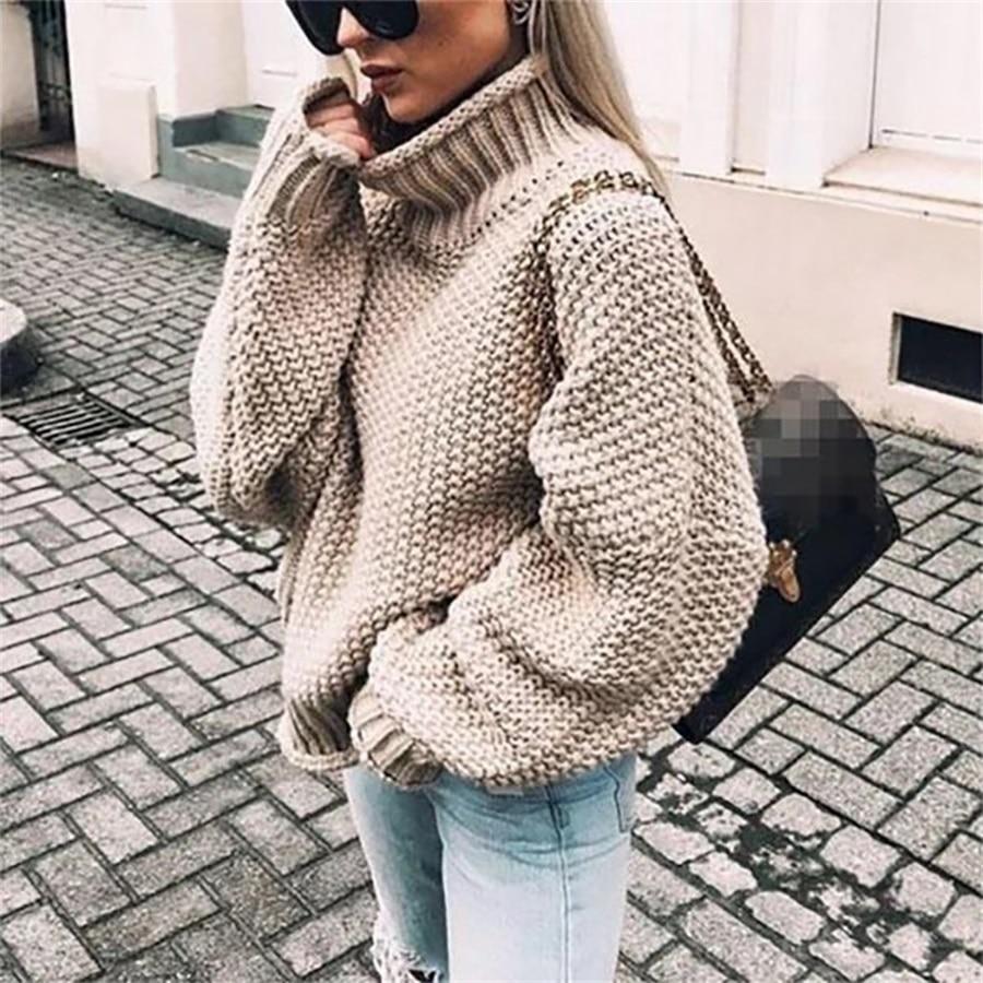 Женский шерстяной свитер с высоким воротником и рукавами «летучая мышь», трикотажная рубашка, Осень-зима 2019