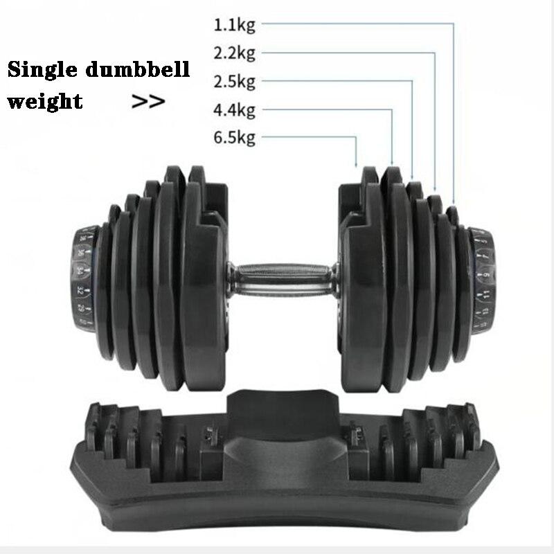 Mancuernas ajustables con mancuernas, conjunto con mancuernas para ejercicio físico, gimnasio en casa, equipo de fitness, 40 kg, 90 libras
