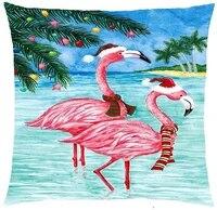 zych christmas beach flamingo cotton linen square throw pillow case cushion cover 18 x 18 throw pillow covers 20