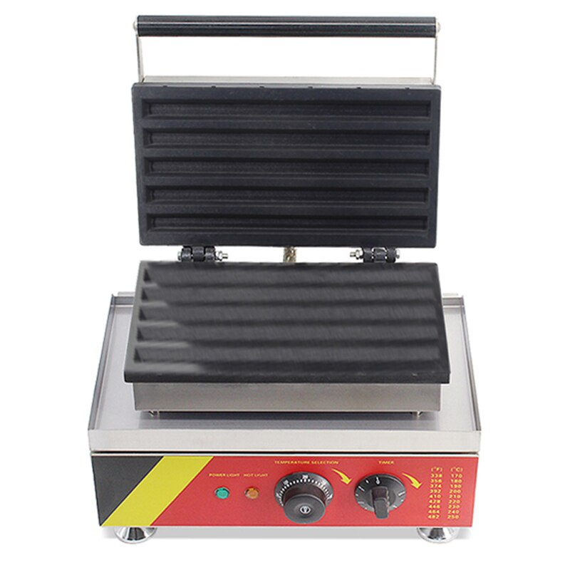 Máquina para hornear en forma de barra comercial tipo panadero NP-531 máquina antiadherente de panqueques 201 de acero inoxidable para hacer gofres maker 110 v/220 v