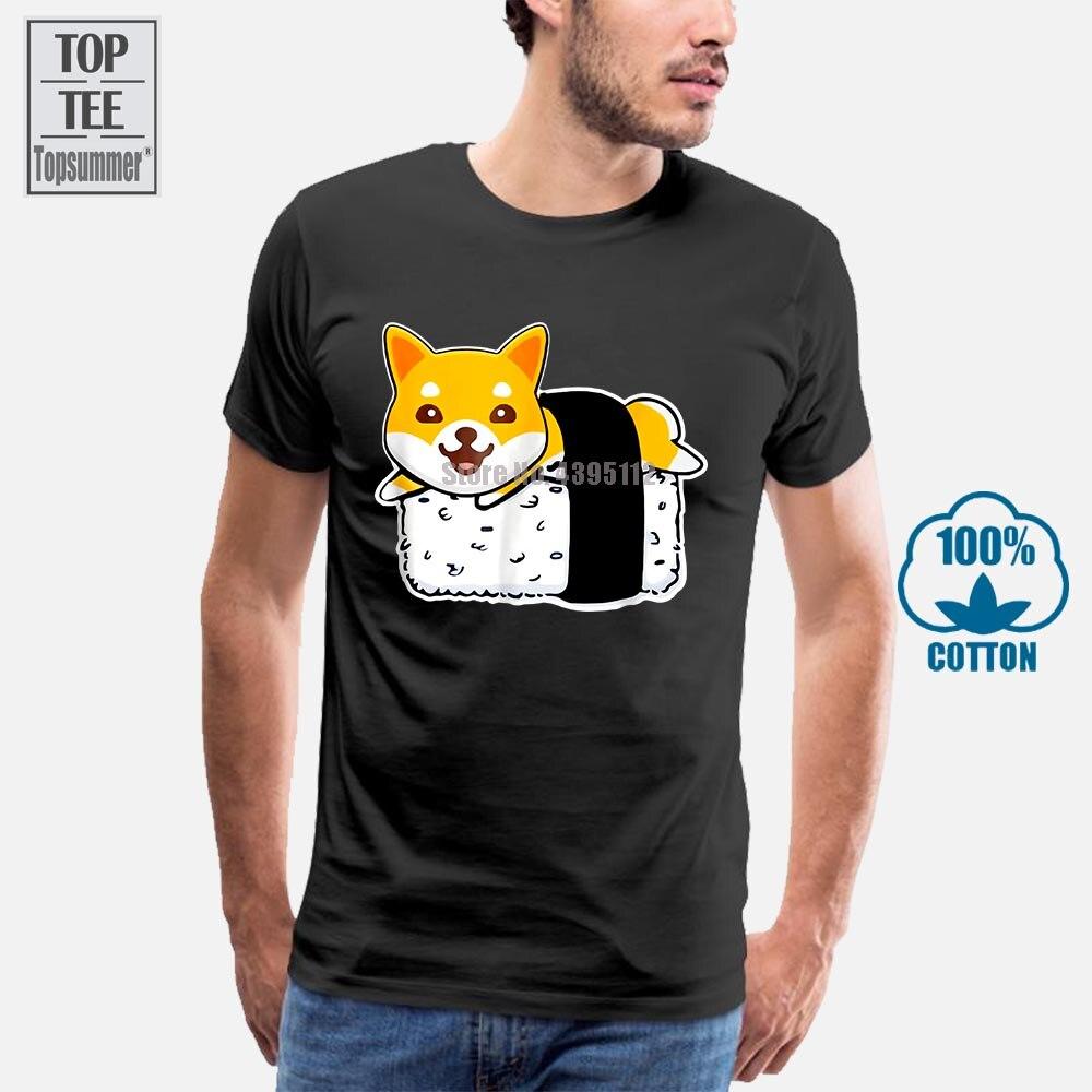 Nueva ropa de marca de moda Cute Shiba Inu Sushi Shirt Doge Doggo Meme camiseta de verano de manga corta Camiseta hombres