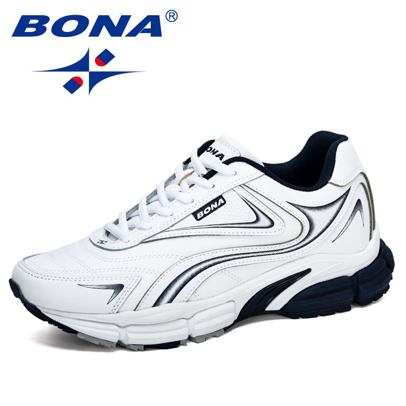 BONA 2020 New Designers Action Leather Sneakers Shoes Men Outdoor Casual Shoes Man Trendy Leisure Fo