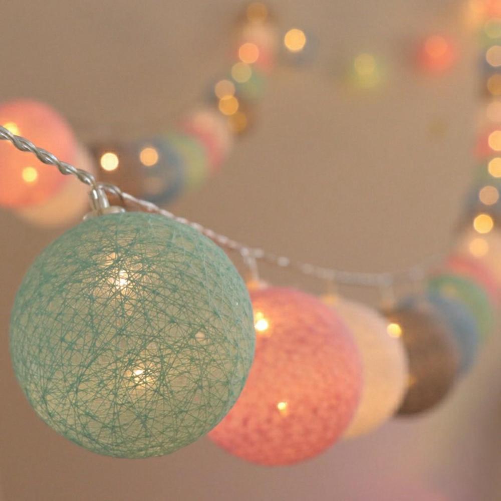garland luzes de led de bola de algodao 2m 20 luzes led para decoracao festas de