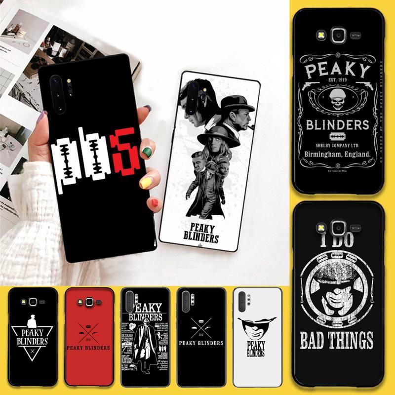 CUTEWANAN Peaky Blinders Cross Logo Custom Photo Soft Phone Case For Samsung Note 7 8 9 10 pro Galaxy J7 J8 J6 Plus 2018 Prime