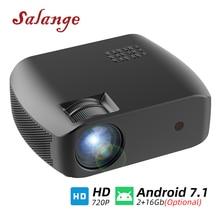 Salange F10 Projektor MINI Wifi Led Proyector Video Beamer für Heimkino 1280*720P 2800 Lumen 3D Projetor android 7,1 (2 + 16G)