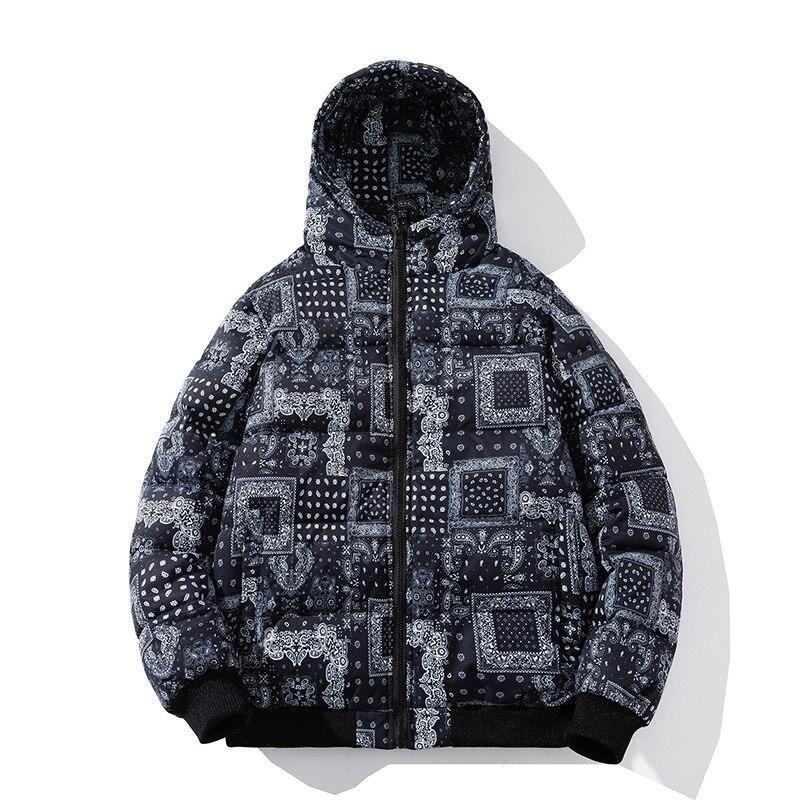 Зимняя парная куртка Корейская версия модная короткая мужская куртка с капюшоном и хлопковой подкладкой