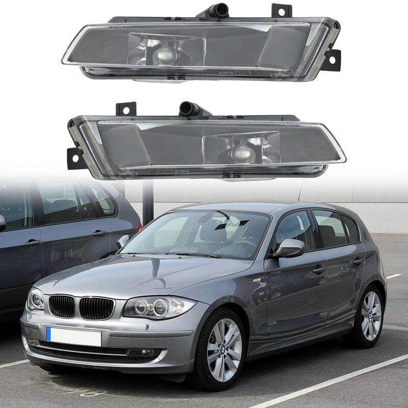 2Pcs Car Bumper Fog Driving Light Lamp Fit For-BMW 1 Series E87 E81 Hatchback 2004-2011 63177181288 63177181287