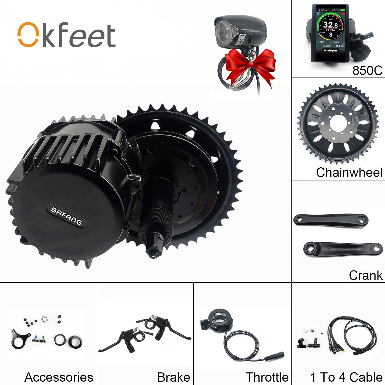 Bafang bbshd 48 v 1000 w 68mm mid crank drive kits de motor 850c c965 sw102 display lcd engrenado kit do motor elétrico bicicleta ebike kits