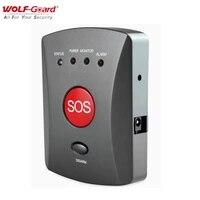 Wolf-Guard     Kit de systeme dalarme de securite domestique sans fil  GSM SMS  panneau a boutons SOS durgence  alerte a une touche  pour enfants et personnes agees