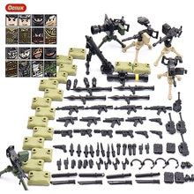 Oenux nouvelle armée de feu lourd Mini Camouflage soldat Figure avec arme militaire petit bloc de construction brique MOC jouet pour enfants