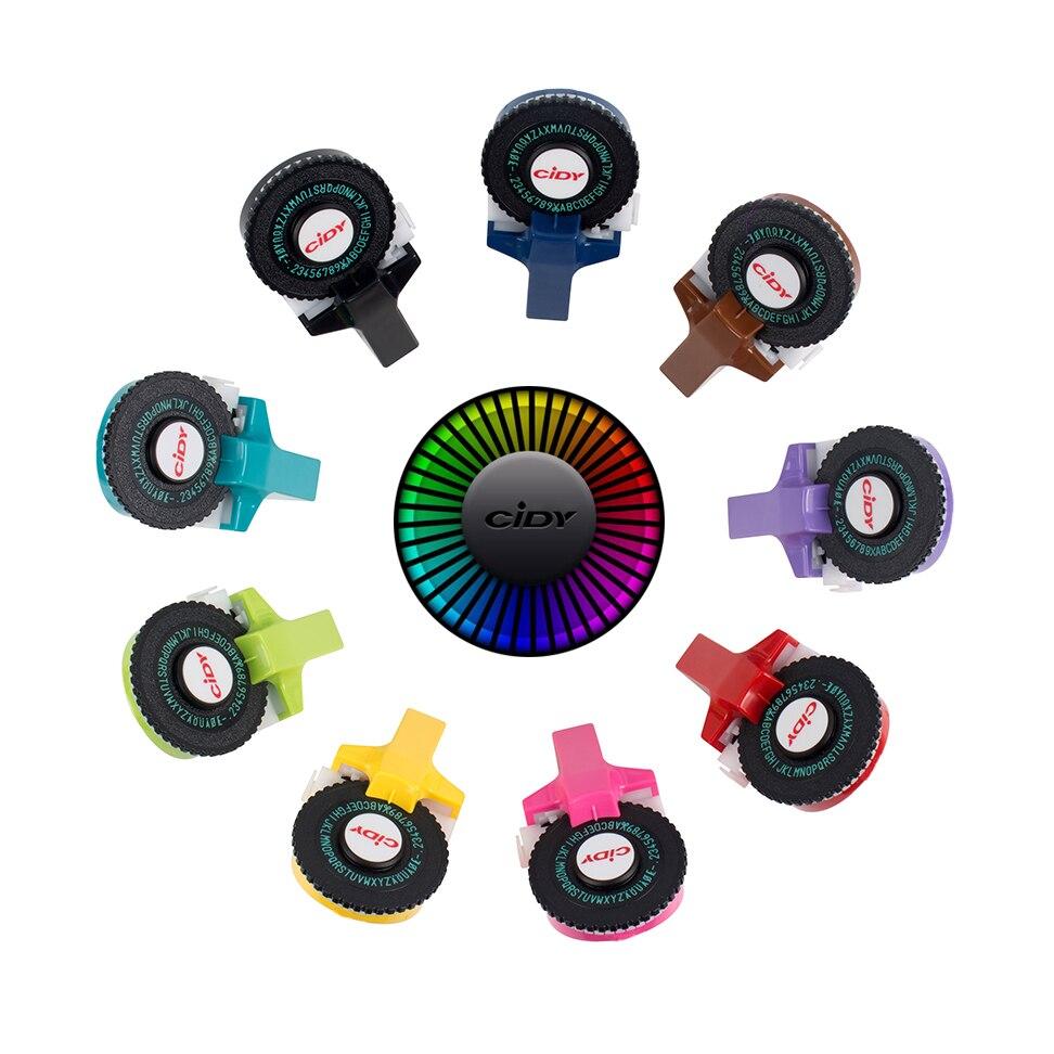 CIDY бренд для MoTex E101 принтер мини DIY Ручная для dymo 3D тиснение ручная лента ручная пишущая машинка