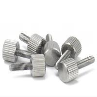 m3 knurled thumb screw thin type with knurling screws manual adjustment bolt knukles tornillos parafuso tornillo vis din653 viti