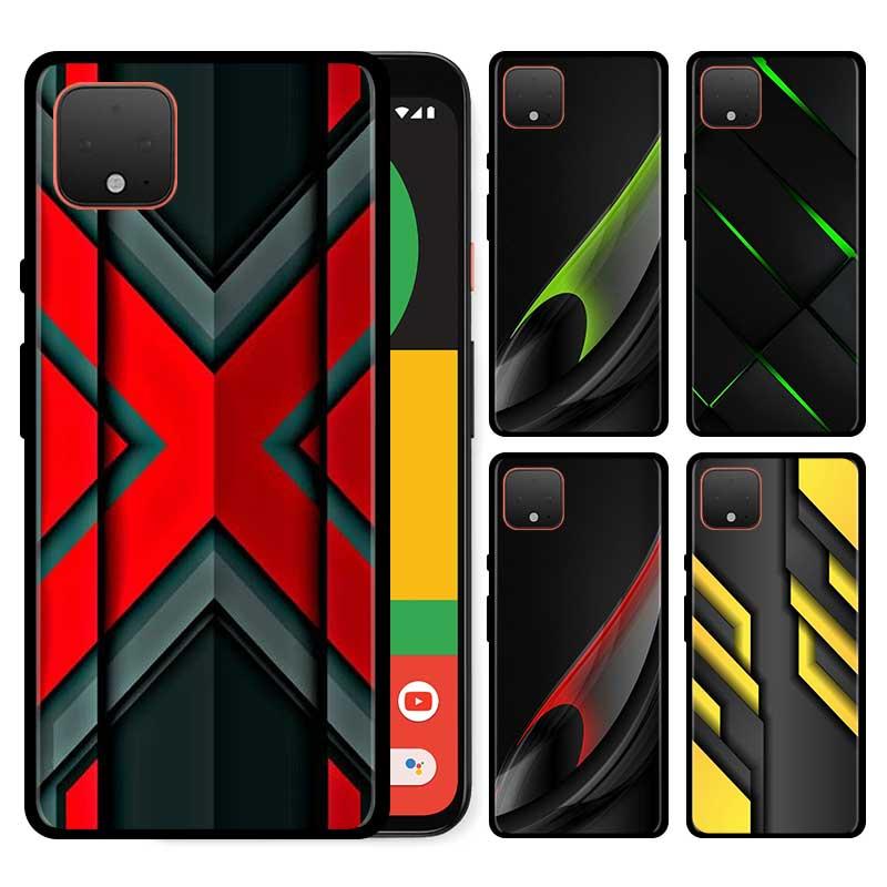 Funda fina para Google Pixel 4 XL, carcasa de silicona, Google para Pixel 4, funda de teléfono, Fundas, figuras oscuras de luz negra