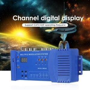 MMS80 Home UHF Modulator Optional PAL/NTSC Multiple Modulation System CATV UHF Signal Amplifier 100~240V EU Plug Transmitter