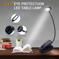 usb charging led hose small table lampdimming flashlight mini book clip lamp eye protection reading work lamp bedside lantern