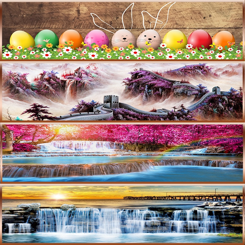 DIY 5D алмазная Картина Пейзаж морская волна Вышивка крестом мозаика Алмазная вышивка узоры Полный Круглый Стразы домашний декор