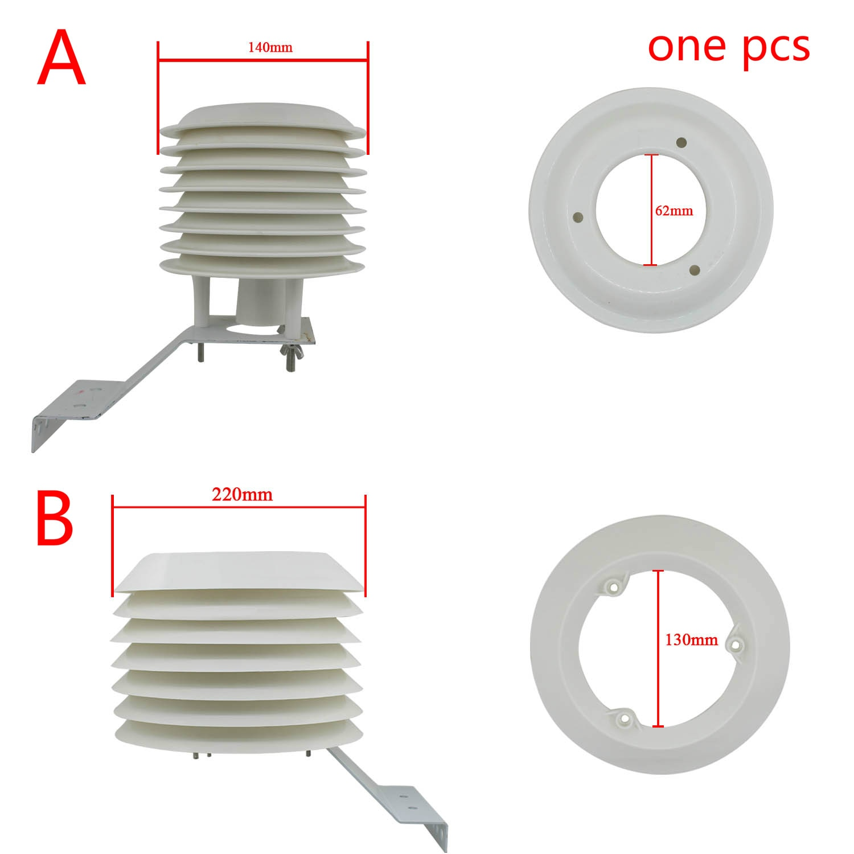 درع إشعاع شمسي ABS ، جهاز عرض محطة الطقس المحيط ، 4-20 أرضية