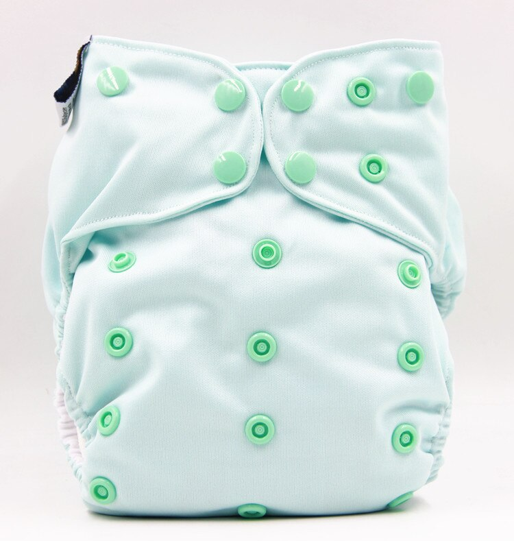 Baby show Washable cloth diapers with two bamboo fiber changing pads pure cotton breathable and leak-proof reusable diaper
