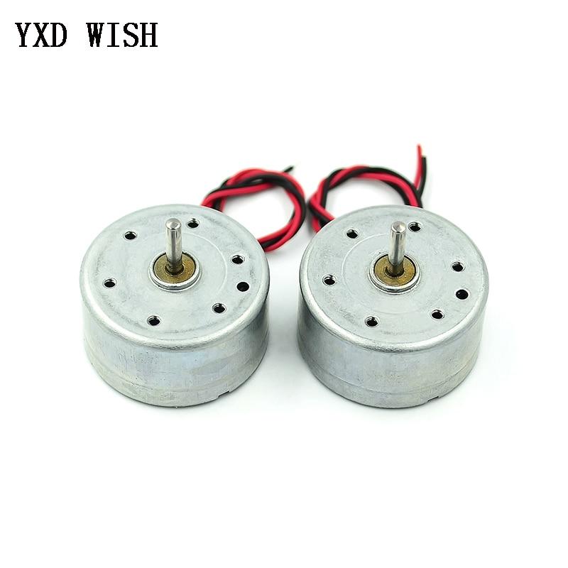 DC Motor Micro 300 Solar DC 3V 4.5V 5V Motor For DIY Toys 2 Pins Plug Spacing 2.0mm PH2.0mm Brush Motors For CD Player