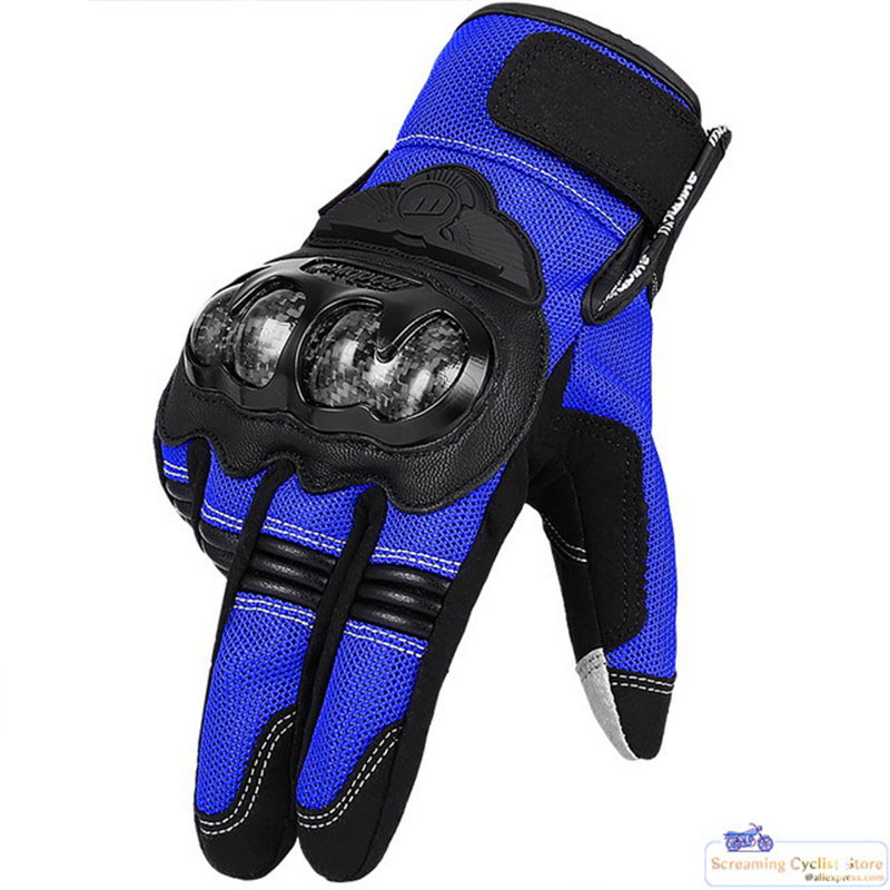 Motocross Gloves Motos Guantes Men Motorcycle Gloves Full Finger Summer Winter Man Leather Racing Gloves Sport Equipment MAD02