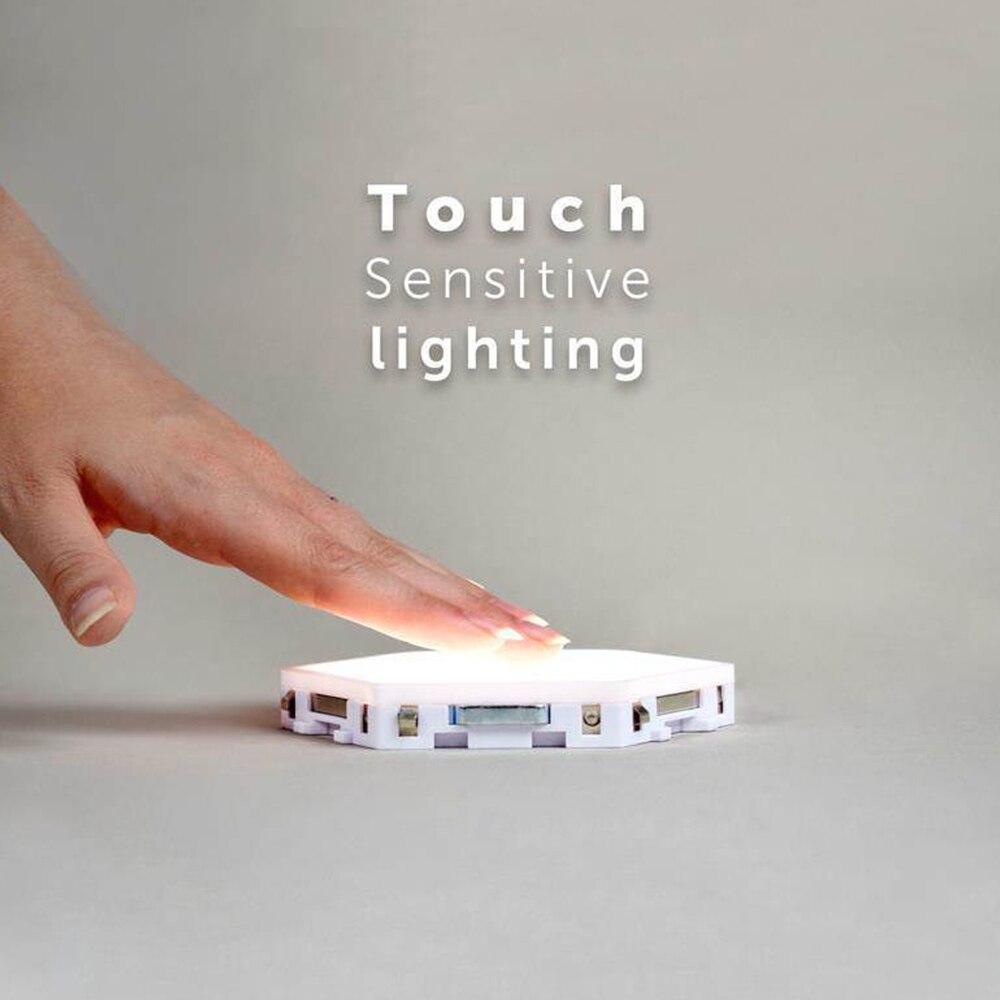 1-10 stck DIY Wand Lampe Touch Schalter Nacht Lampe Sechseckigen Lampen Modulare Kreative Dekoration Moderne Wand Lampe blub enlarge