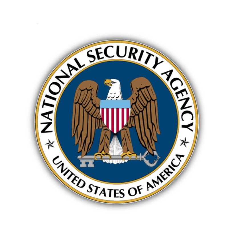 Interessante acessórios agência de segurança nacional américa bandeira carro adesivo capa arranhões decalque pvc à prova d14 água 14cm x 14cm
