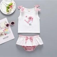 ircomll 2pcs summer suits newborn baby girl clothes childrens clothing sets cotton bow t shirt short for newborns kids