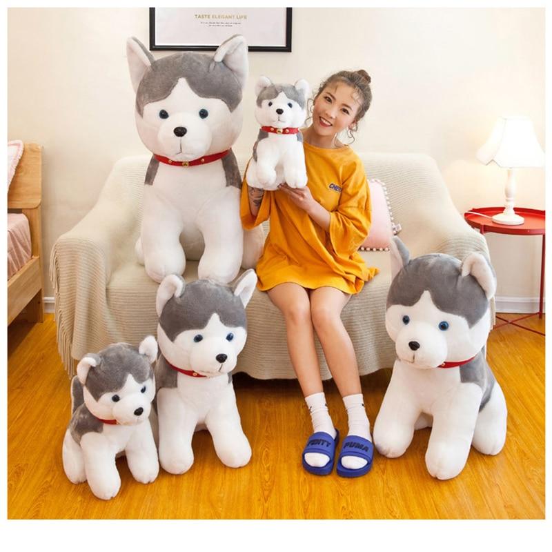Husky Dog Simulation Doll Stuffed Toy Plush Animal Toys