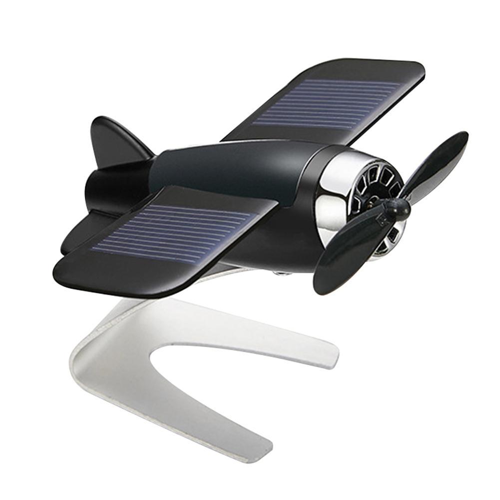 Diseño de coche de aluminio a la moda, energía Solar, giratorio, avión, tablero, decoración, Interior de coche, accesorios Boutique
