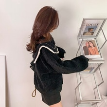 Sailor Collar Sweater Female Fall and Winter Outer Wear 2020 nian New Style Loose and Lazy Style Jap