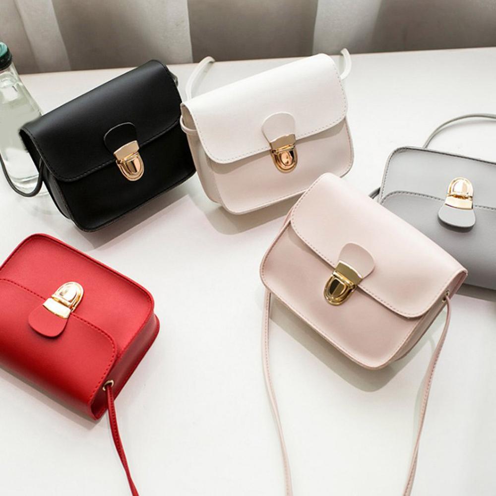Sacs à main en cuir pour femmes, petits sacs à bandoulière rouge rose conception à serrure, Mini sacs à bandoulière, nouvelle collection 2020