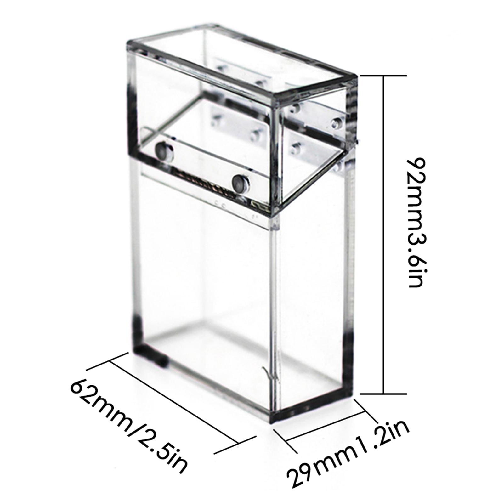 Acrylic Transparent Box Thickened Portable Storage Box Acrylic Cigarette Holder Lighter Storage Organizer Case Carry Box New