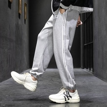 2020 streetwear calças de carga dos homens listrado jogger calças de suor casuais calças de fitness em linha reta hip hop high street wear masculino moda