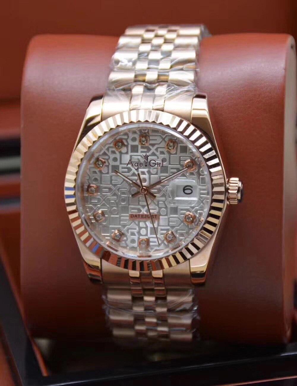 الكلاسيكية الجديدة الرجال التلقائي الميكانيكية Datejust الفولاذ المقاوم للصدأ الياقوت الوردي الذهب الأزرق الأسود الأبيض الماس شل الساعات