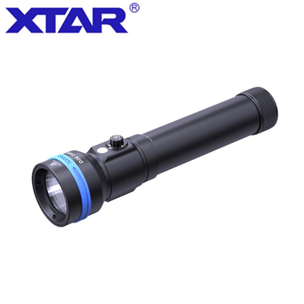 Original XTAR D26 2500 diving flashlight CREE XHP50.2 LED 2500 lumen Max 320 meter Magnetic switch torch 100 meter diving depth enlarge