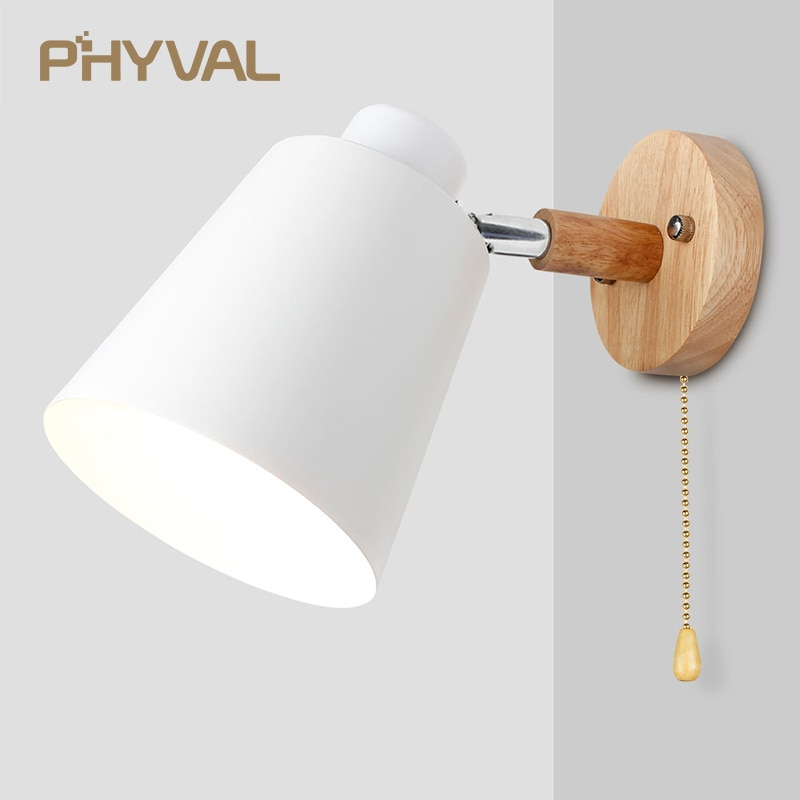 Wall Lamps With Switch Bedside Wall Light Modern Wall Sconce Nordic For Bedroom Macaroon 6 Color Ste