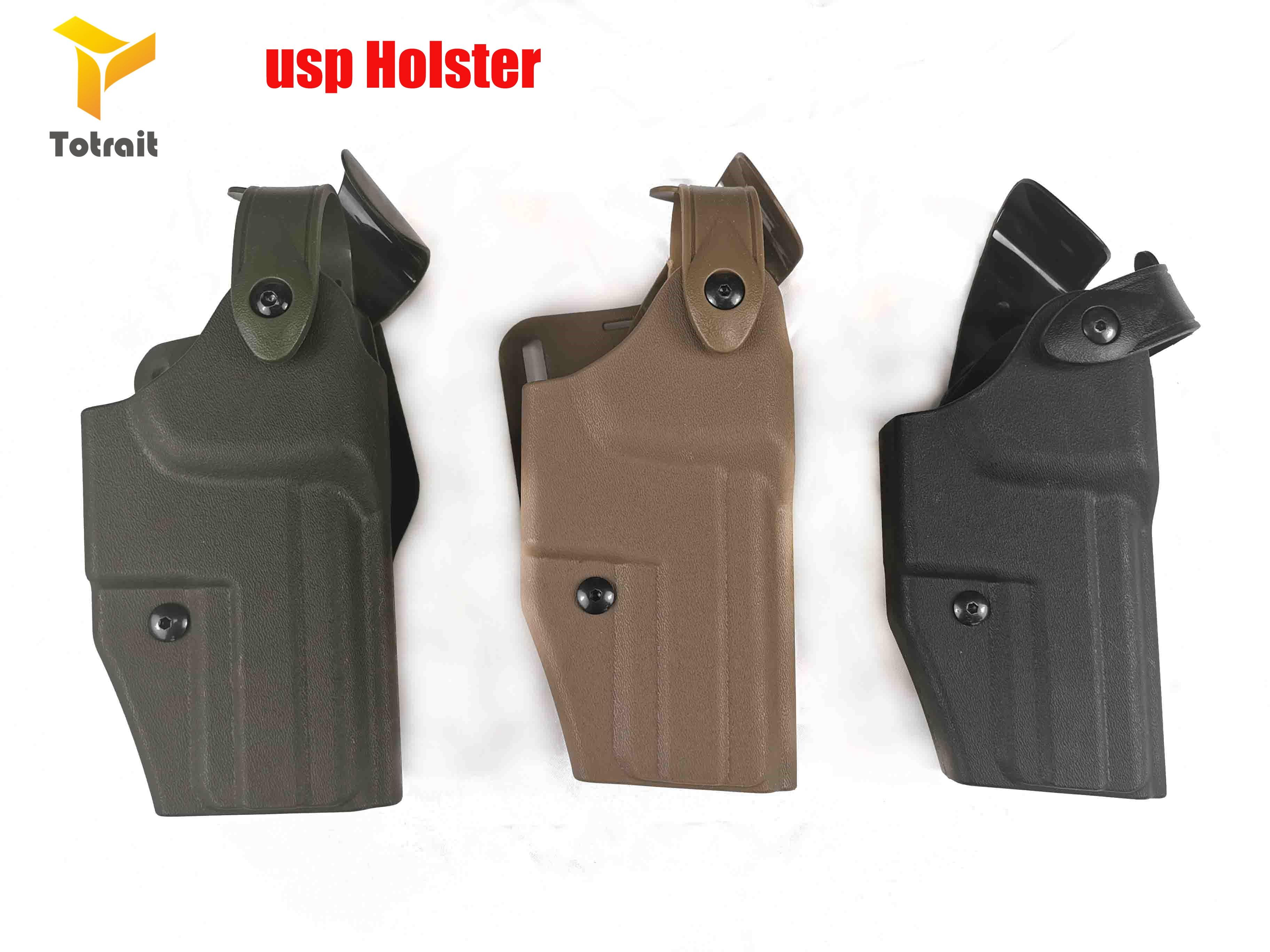 Military Army Tactical HK USP Compact Gun Holster Gun Carry Case Right Hand Quick Drop Gun Belt Holster Hunting Airsoft Gear bla