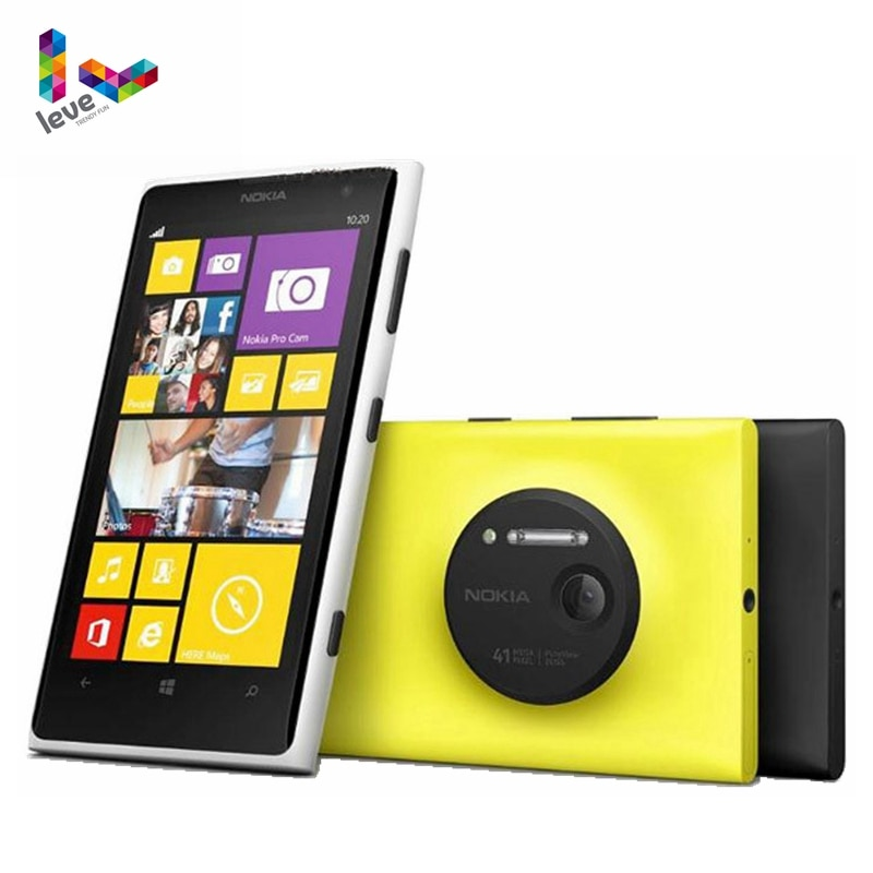 نوكيا Lumia 1020 ويندوز مقفلة الهاتف 32GB كاميرا 41MP GPS Wifi 4.5