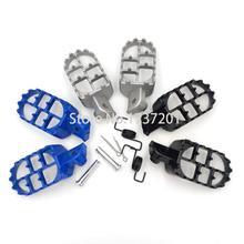 Alumínio apoio para os pés pé pegs footpeg para yama ha pw50 pw80 pw 50 80 tw200 ttr90 ttr90e pit bicicleta da sujeira do motocross motocicleta